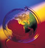 Perspex Globe Coloured