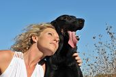 Woman And Beauceron