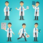 Постер, плакат: Doctor Character Set