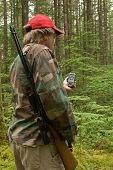 Hunter Checking A Gps