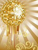 golden mirror ball
