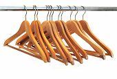 Wood coat hanger