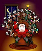 Santa_xmas_tree_deers_color