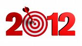 pic of new years celebration  - Next New Year 2012 whit a red and target and dart  - JPG