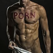 Man With Porn Text poster