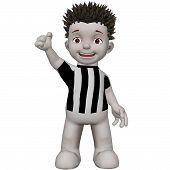 Boris Football torcedor torcer para sua equipe