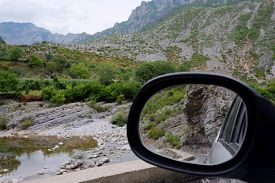 foto of albania  - Landscape with the image of mountains in Albania - JPG