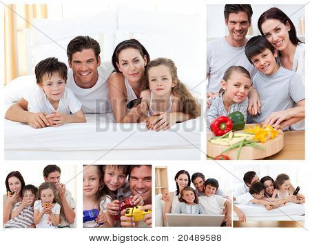 poster of Collage Of A Family Spending Time Together At Home