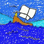 Childs Boat Drawing