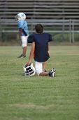 Football Player Waiting