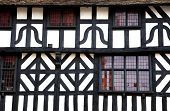 Detail of a timbered building, Stratford-Upon-Avon, UK.
