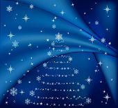 Azul de árbol de Navidad, Vector Illustration