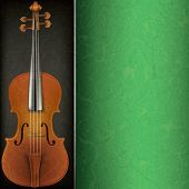 Abstract Music Background With Violin