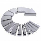 Chrome Circular Arrow
