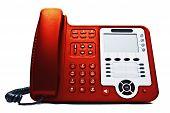 Red Ip Phone Closeup