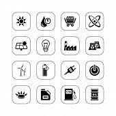 Energy icons - BW series