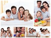 Collage Of A Family Spending Time Together At Home poster