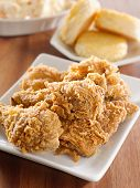 image of southern fried chicken  - fried chicken meal - JPG