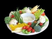 stock photo of crudites  - Vegetable platter - JPG