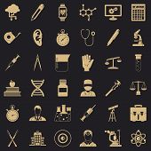 Lab Icons Set. Simple Style Of 36 Lab Vector Icons For Web For Any Design poster
