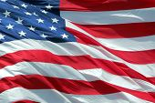 foto of waving american flag  - Photo of American flag waving in the wind - JPG