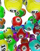 3d render of a set of colouored bingo balls