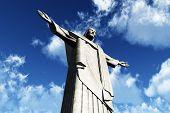 Corcovado Cristo Redentor Rio Jesus Statue 3D render