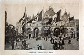 ITALY - CIRCA 1910: A picture printed in Italy shows image of Saint Marco Basilica  in Venice, Vinta