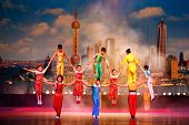 SHANGHAI, CHINA - NOV 28: World famous Shanghai acrobats perform for tourist on stage on Nov 28, 201