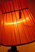 Lâmpada cor de laranja