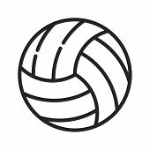 Volleyball Icon Isolated On White Background. Volleyball Icon In Trendy Design Style. Volleyball Vec poster