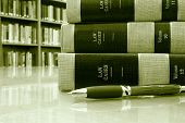 Law Books Table