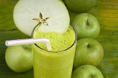 refreshing healthy yogurt apple smoothie milk shake