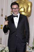 LOS ANGELES - FEB 26:  Michel Hazanavicius arrives at the 84th Academy Awards at the Hollywood & Hig