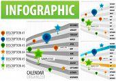 Calendario organizador infografía