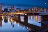 Hawthorne Bridge Over Willamette River