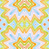 Colorful Geometric Watercolor. Dazzling Seamless Pattern. Hand Drawn Stripes. Brush Texture. Energet poster