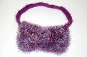 Furry Purple Shoulder Bag