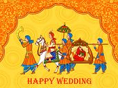 Vector Design Of Indian Woman Bride In Wedding Ceremony Of India poster