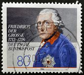 A stamp printed in Germany showing Friedrich der Gross