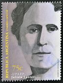 A stamp printed in Argentina shows Julieta Lanteri