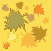 foto of dtp  - autumn leaves background design - JPG