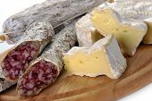Sausage Salami And Cheese Camembert