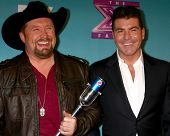 LOS ANGELES - DEC 20:  Tate Stevens - Winner of 2012 X Factor, Simon Cowell at the 'X Factor' Season