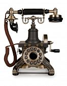 picture of rotary dial telephone  - Retro Phone  - JPG