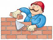 Bricklayer At The Work