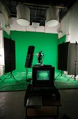 A green screen studio ready to shoot