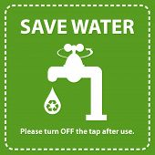 Water conservation concept. Turn off the tap to save water.