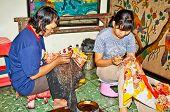 JAVA, INDONESIA - JANUARY 4: Javanese Batik pronunciation  on January 4 2012.in Java, Indonesia. Bat