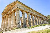 Doric Temple In Segesta, Sicily, Italy